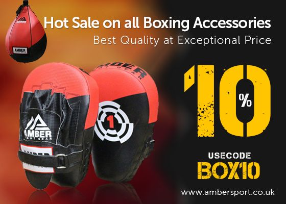 Little Deals. Big Savings. #AmberSportUK Comes with Amazing Offers! 10% OFF on All BOXING ACCESSORIES  USE COUON CODE:BOX10 Shop Now - http://goo.gl/ZXxryR