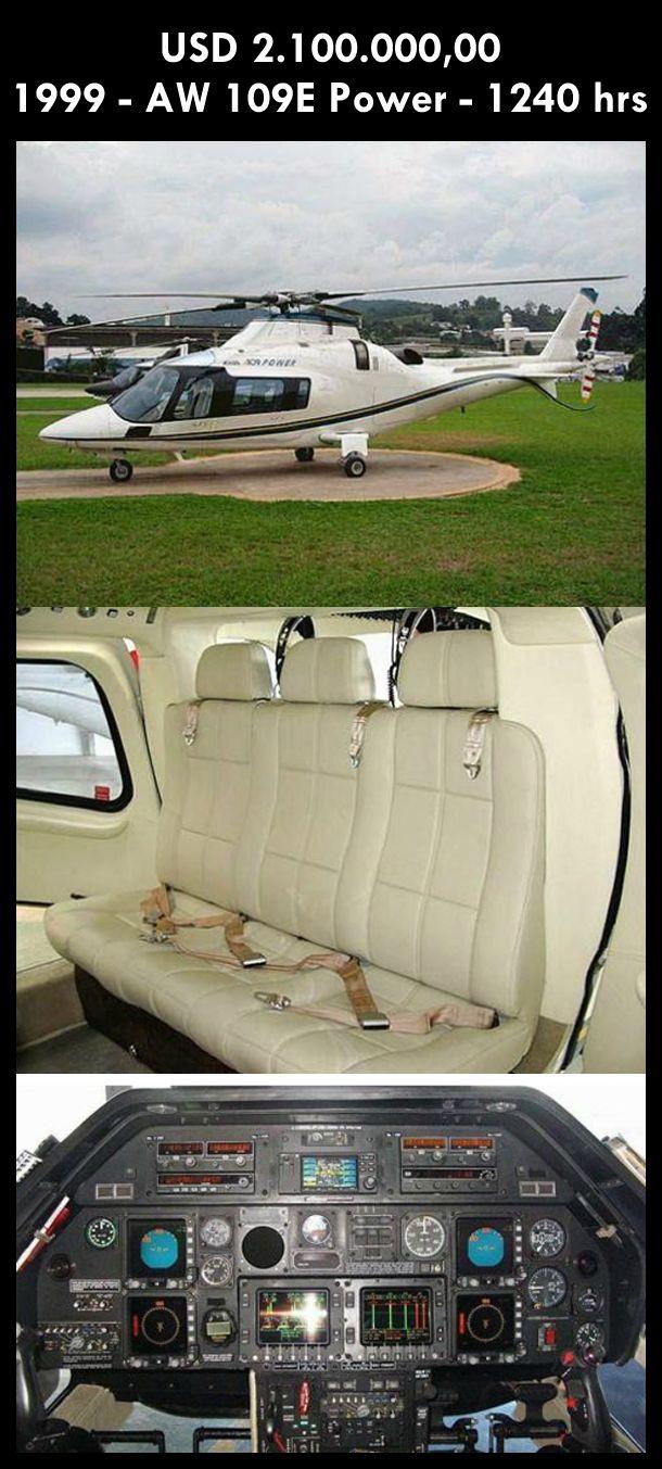 Aeronave à venda: Agusta Westland AW 109E Power, 1999, 1240 hrs, USD 2.100.000,00. #agusta #agustawestland #aw109epower #agustapower #airsoftanv #a109epower #aircraftforsale #aeronaveavenda #pilot #piloto #helicoptero #aviation #aviacao #heli #helicopterforsale  www.airsoftaeronaves.com.br/H212