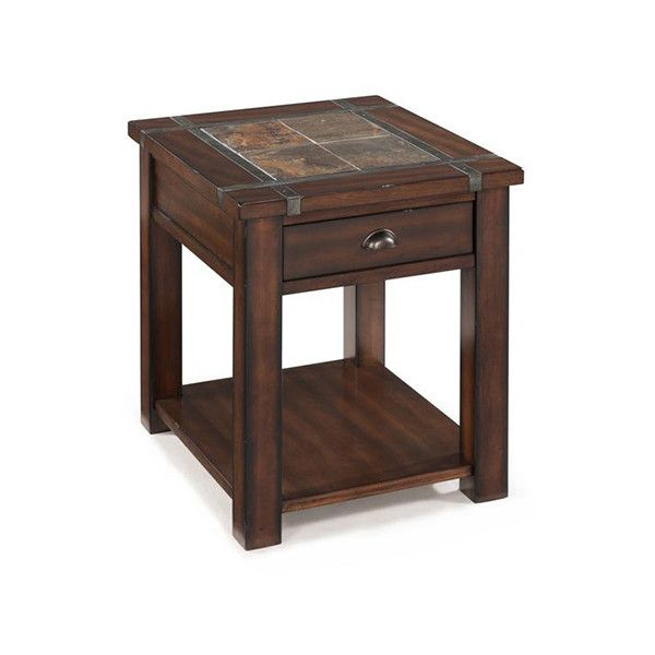 Magnussen Home Roanoke Cherry and Slate End Table   397    liked on  Polyvore featuring. Best 25  Cherry end tables ideas on Pinterest   Painting end