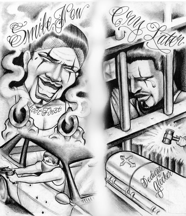 Smile Now Cry Later   Chicano Art   Pinterest