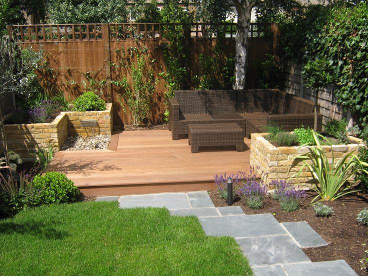 Decking. lawn, raised beds #garden. yes please Garden Fencing trellis garden ideas #paving #garden