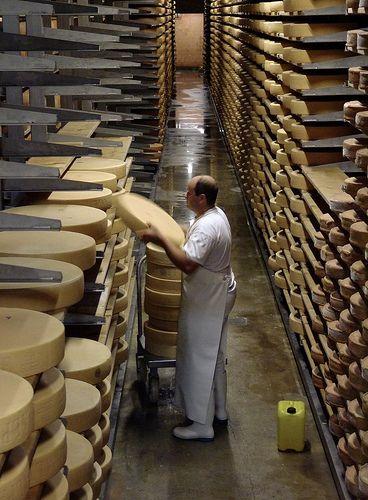 Cheese factory in Gruyeres, Switzerland