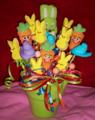 Printable Easter Crafts: Easter Candy Bouquet How To