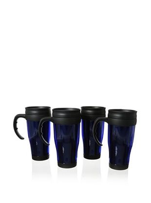 63% OFF Cilio Premium Set of 4 Travel Mugs (Blue)