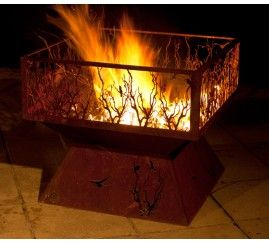 Fire pit Large with Branches shroud