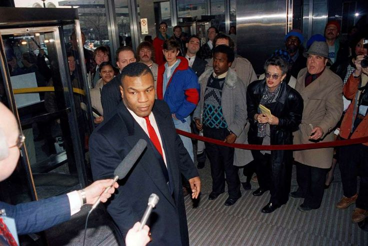 January 27,   1992: Mike Tyson goes on trial  -   Former world boxing champion Mike Tyson goes on trial in Indianapolis for allegedly raping an 18‐year‐old contestant in the 1991 Miss Black America Contest. He was eventually convicted and sentenced to prison.