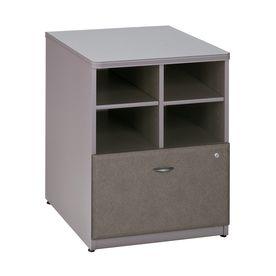 Bush Business Furniture Series A White Spectrum/Pewter Piler Filer Cabinet Wc14523p