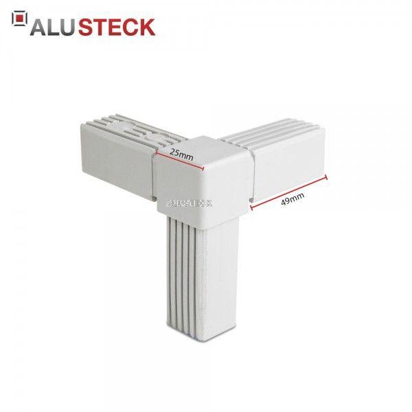 Rechter Winkel 1 Abgang 25 x 25 mm Steckverbinder Vierkantrohr