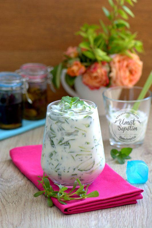 salatalıklı semizotu salatası