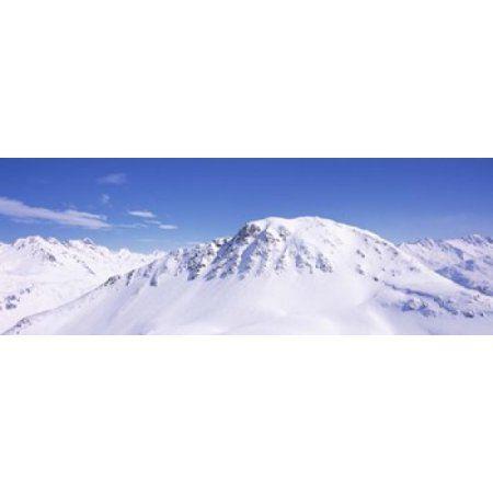 Snowcapped mountain range Ski Stuben Arlberg Vorarlberg Austria Canvas Art - Panoramic Images (36 x 13)