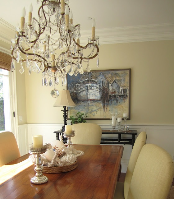 newport beach classic home tour casual dining - Casual Dining Chandeliers