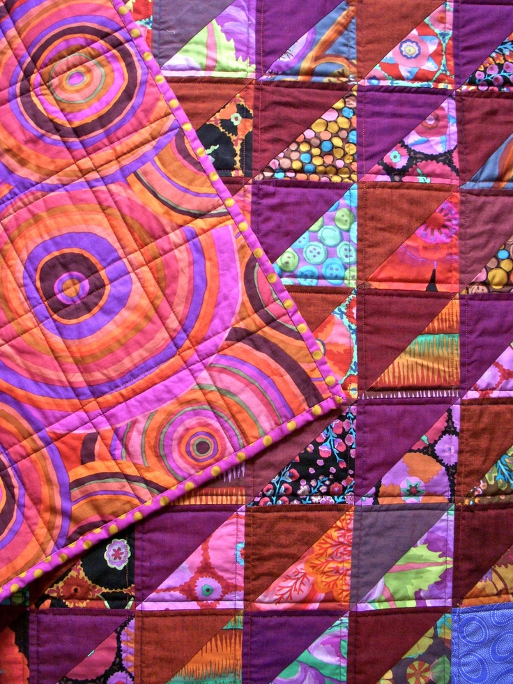 Spring Blossom Quilts: KF Charm Squares Quilt. Love the varied tones of shot cottons
