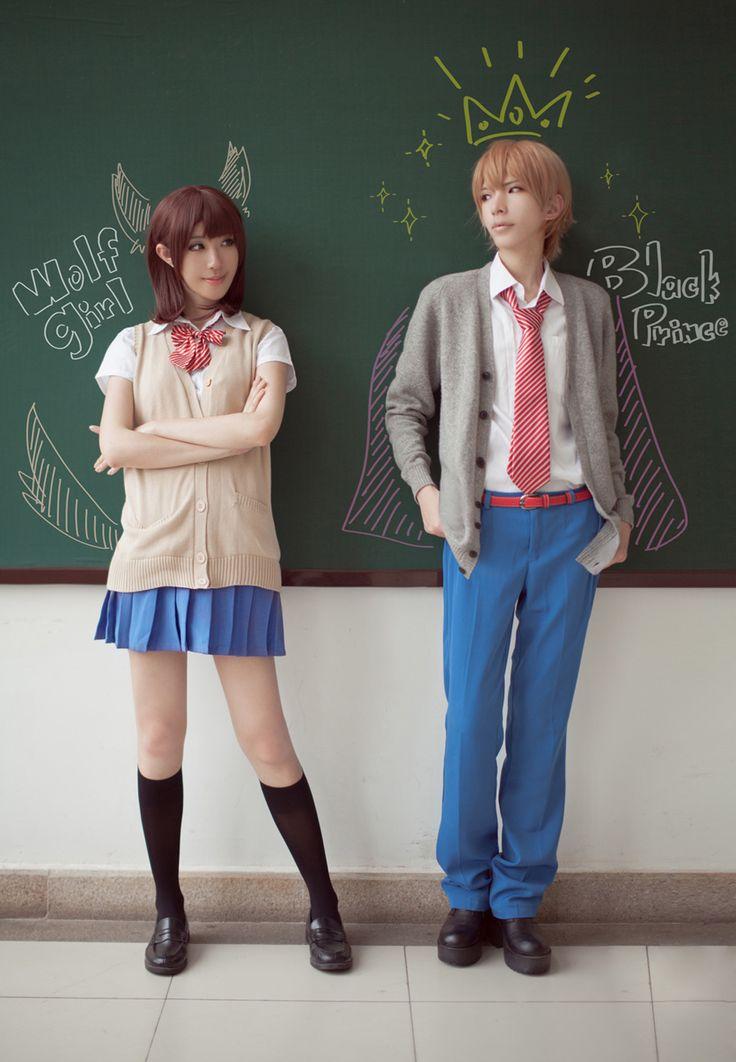 #Anime #Cosplay Wolf Girl & Black Prince-Erika Shinohara & Kyouya Sata One of my fave animes! :3