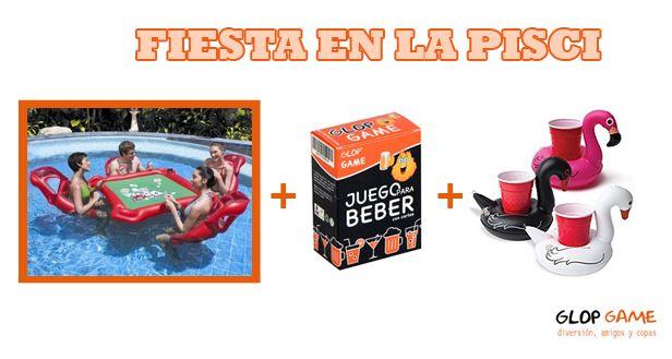 Con esta calor que mejor que una fiesta en la piscina???!!! 🌊🌊☀☀  Nos encantan y conocemos que necesitas!! 🔝🔝  Hazte con los juegos para beber GLOP! Anima tus fiestas! 🎉🎉