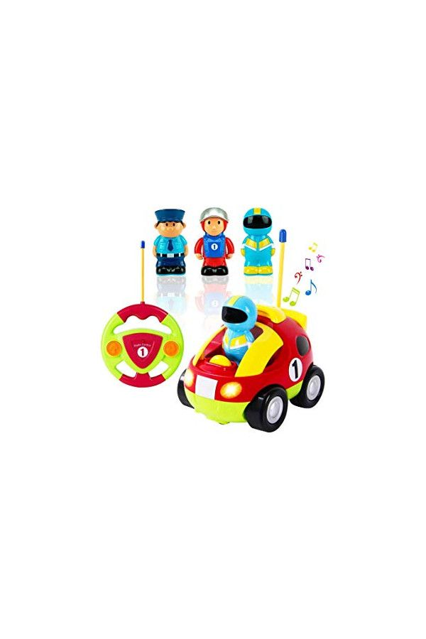 Liberty Imports My First Cartoon R C Race Car Radio Remote Control Toy For Baby Toddlers Children Toddler Baby Toddler Toys Toddler Toys