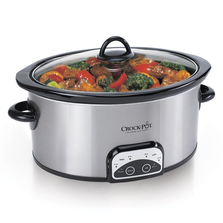 Crock-Pot® 7-Quart Smart-Pot® Slow Cooker, Brushed Stainless Steel