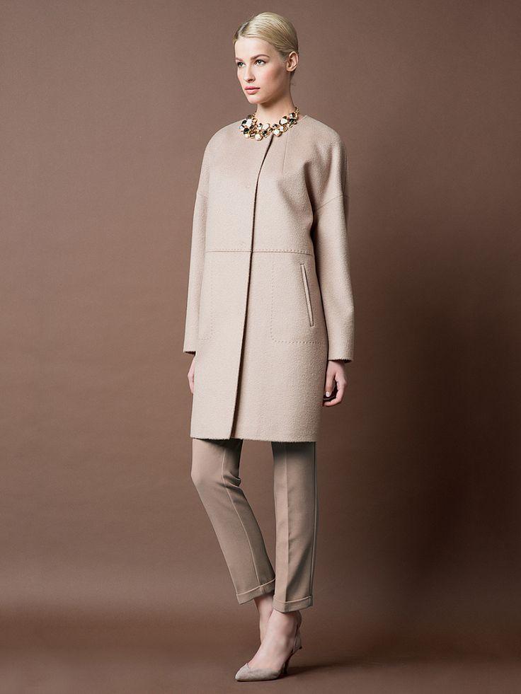 Пальто женское цвет светлый кэмел, Пальтовая ткань, артикул 1014900p00007