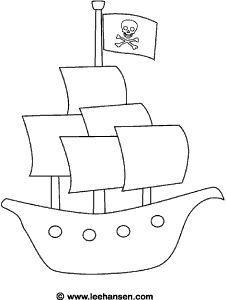 pirate ship coloring sheet pdf