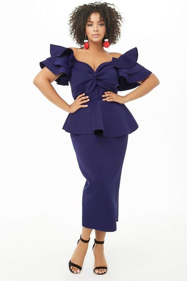 2835fd23fde Forever 21 Plus Size Sweetheart Peplum Dress