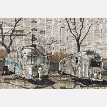 Loved this so much I impulse-bought a print! Airstream by Adam Ambro, $18.75 at Fab.com until Saturday.