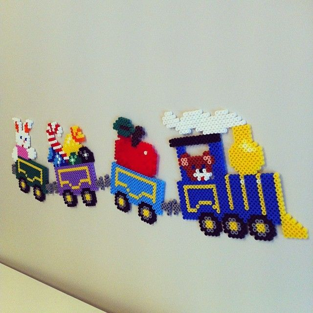 Baby wall decoration perler beads by mammasmurfen