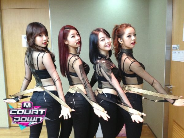 Girl's Day Yura, Sojin, Minah and Hyeri (left to right)