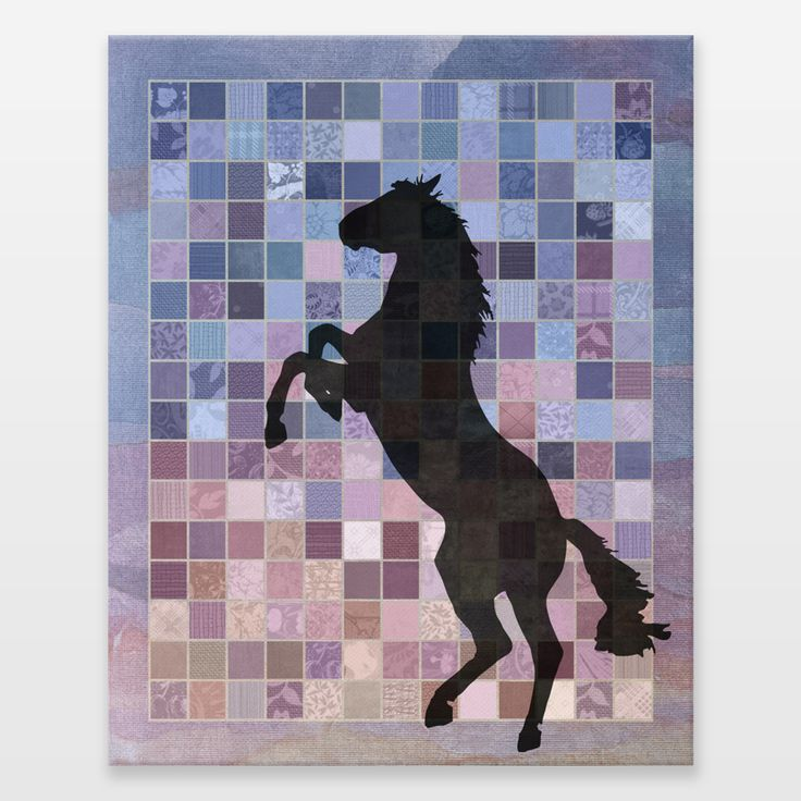 Horse, mare, foal, yearling, colt, filly, stallion, gelding, domesticated, farm animal, work horse, wild horse, feral horse, equine, pony, mammal, (equidae), (equus ferus caballus),animal, speed, riding, transportation, sport, racing, thoroughbred, nature, ecology, silhouette, digital, paper, collage, texture, patchwork, quilt, quilting, texture, textile, fabric. Fun Indie Art from BoomBoomPrints.com…