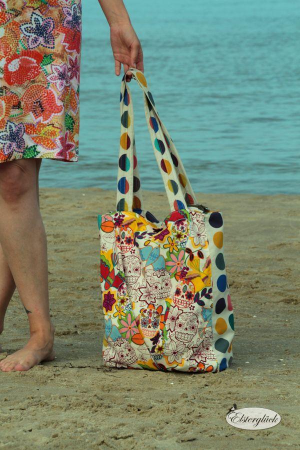 Elsterglück: Tutorial: Reißverschluss für Shopper-Tasche