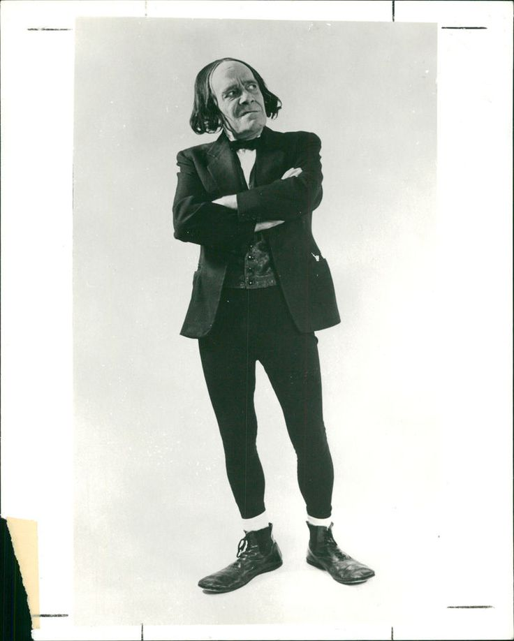 Vintage photo of English comedian and actor, Max Wall.