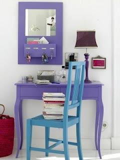 Decoração de A a Z: Azul com Lilas e Roxo Adoro essa Combinação