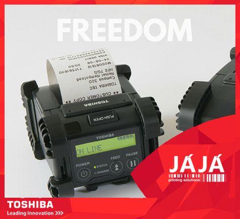 """Já conheces as impressoras de etiquetas e códigos de barras Toshiba B-EP? Ideias para aplicações portáteis, estas impressoras móveis são a """"super-solução"""" para satisfazer as necessidades mais exigentes! Perfeita para a etiquetagem de códigos de barras em armazém, receitas hospitalares ou tickets emitidos em movimento. #etiquetas #rotulos #toshiba #JAJA"""