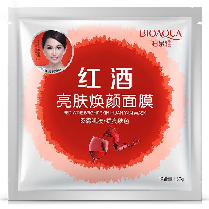 Nieuwe Masker, Rode wijn heldere huid wakker huid Masker Anti-aging, Hydraterende, Whitening Gezichtsmasker Gezichtsverzorging Product 1 stks/partij