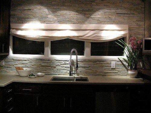 Rough Stone Backsplash Diy Kitchen Decor Pinterest