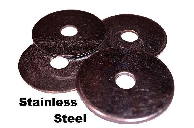 "Stainless Steel Fender Washer, 3/16"" x 1-1/4"" (100 pcs) 18-8 Stainless Steel Inside Diameter: 3/16"" Outside Diameter: 1-1/4"" Looking for other sizes o... #washers #fender #steel #stainless"
