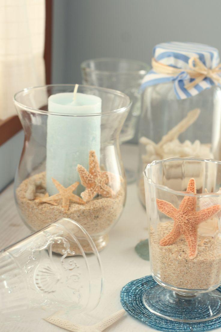 砂もインテリアに。かわいいデザイン瓶がポイントです。 : 人魚姫のお部屋作り♡乙女のマリンなインテリア - NAVER まとめ