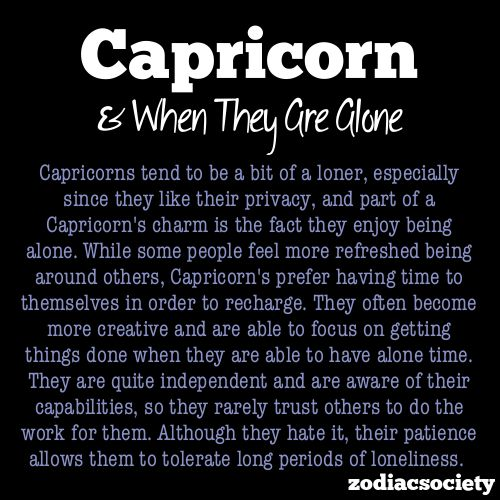 Capricorn & Being Alone