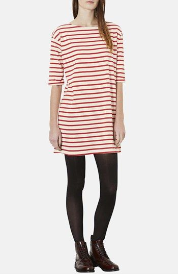 Topshop Stripe Cotton Tunic Dress from @Nordstrom // simple and chic