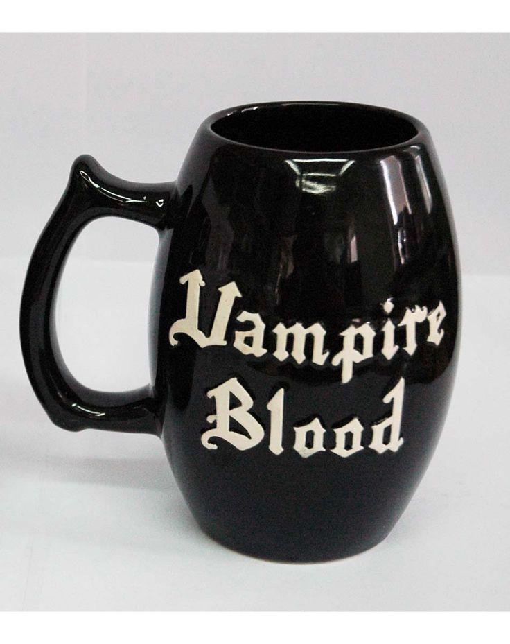 Vampire Blood mug  -  this is so cute! at Spirithalloween.com