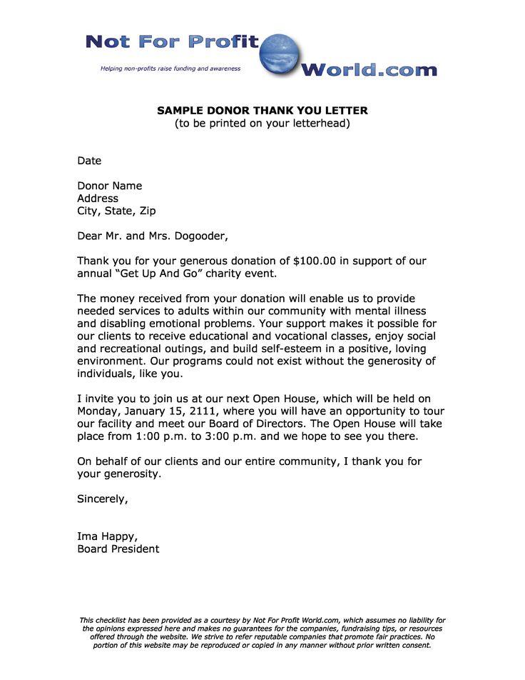 50 Non Profit Thank You Letter Hc7k di 2020