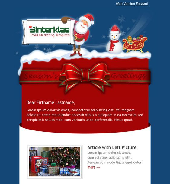 Best  Of The Best Holiday  Christmas Email Newsletter