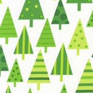 Robert Kaufman fabric Jingle Trees