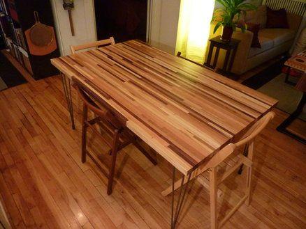 die 25+ besten butcher block dining table ideen auf pinterest, Esstisch ideennn