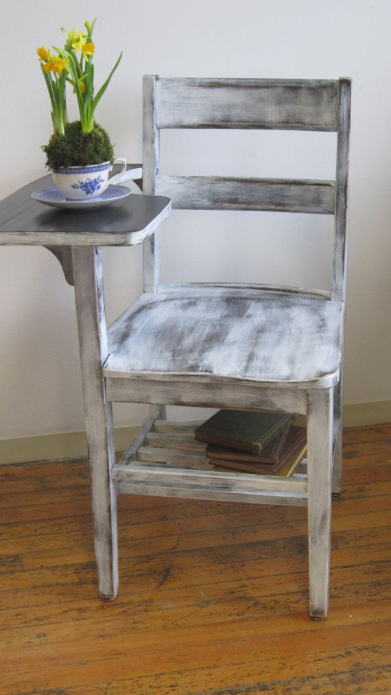 Upcycled Vintage School Desk by karaUstudio on Etsy, $175.00