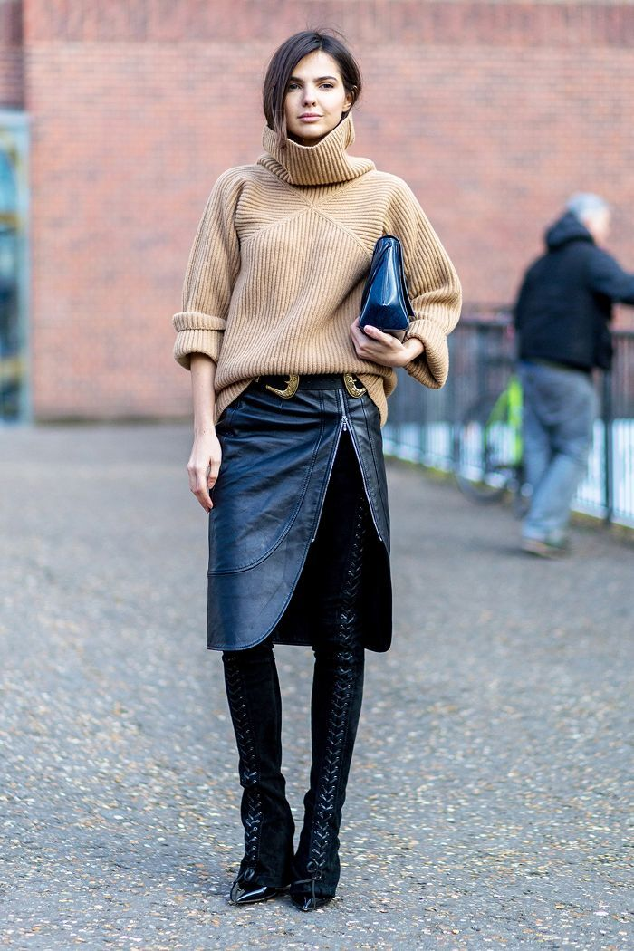 eec13624f1 We ve rounded up the coolest leather-skirt outfits fashion girls are wearing  now. See them here.