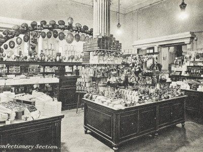 1909 Confectionery Section at the real Selfridges Dept Store in London