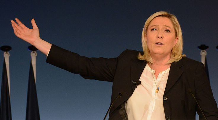 Marine Le Pen, French National Front political party leader. © Jean-Pierre Amet