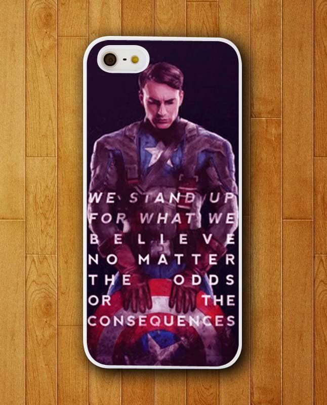 Captain America Quotes No Matter The Odds iPhone Skin Protector for iPhone 4 4S 5 5S 5C
