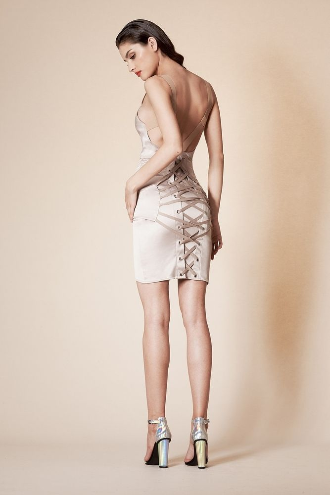 Murmur Fashion Pulp Fanlaced Dress