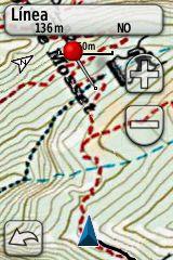 Medir Distancia y Rumbo In Situ sobre el mapa Digital Topo Alpina en un Garmin Dakota 20