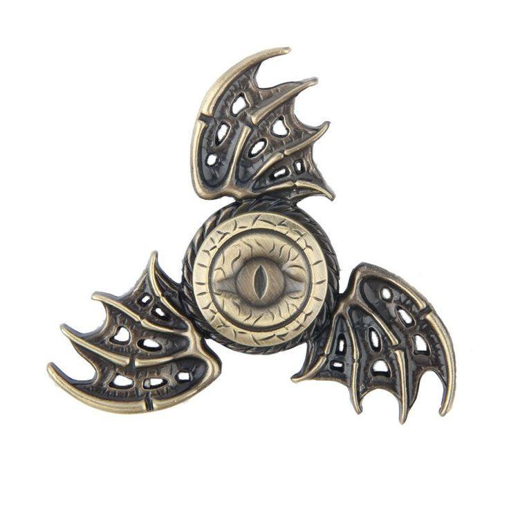 Game of thrones GOT tv dragon wing eye Fidget EDC metal spinner